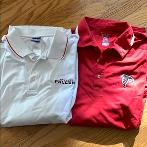 Reebok Team Apparel | 2 Falcons Polos Size Large.